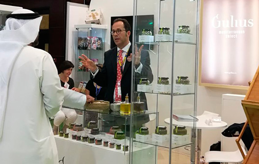 Gulius at the Gulfood fair in Dubai 2018