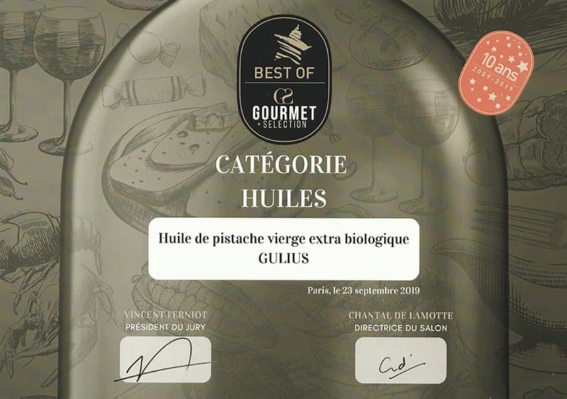 Award Gourmet Selection Paris 2019